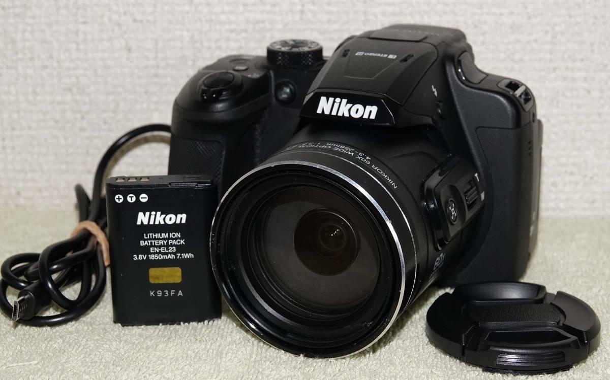 送料無料 NIKON COOLPIX B700 完動品、スレ、傷多い 純正電池、互換レンズキャップ、互換USBケーブル 発送60サイズ