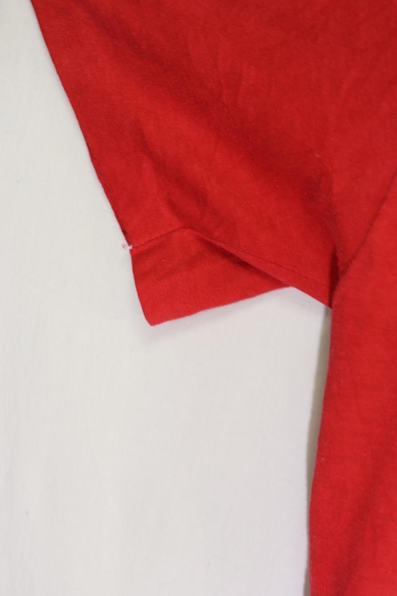 【メンズ】80'sINDIANAカレッジTシャツ/インディアナUSAビンテージレッド希少一点物♪M_画像6