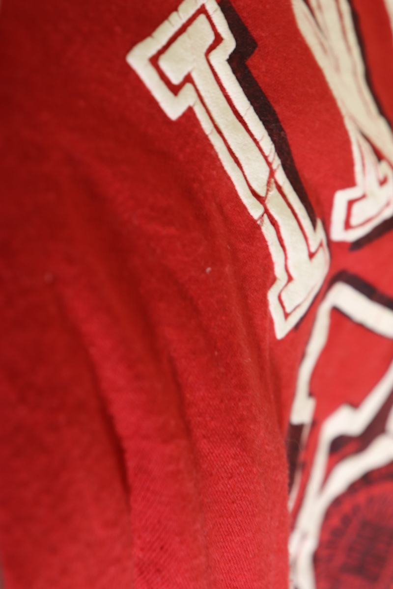 【メンズ】80'sINDIANAカレッジTシャツ/インディアナUSAビンテージレッド希少一点物♪M_画像7