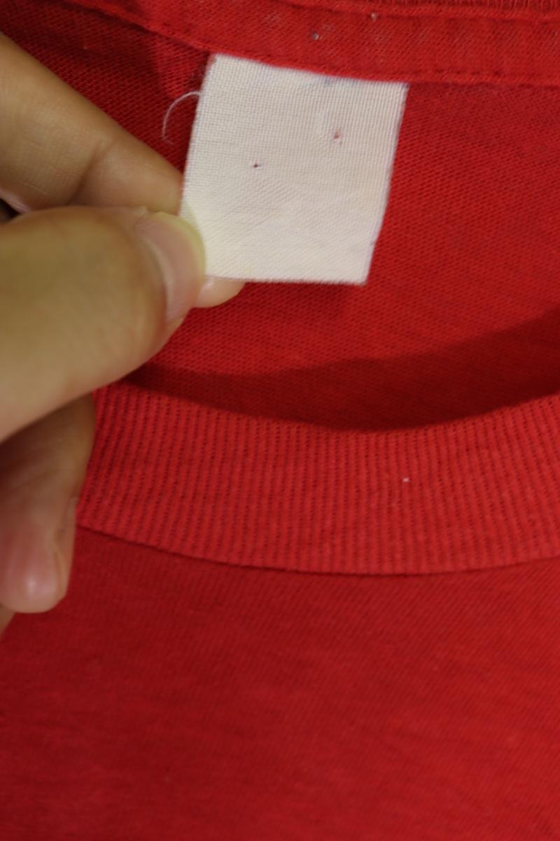 【メンズ】80'sINDIANAカレッジTシャツ/インディアナUSAビンテージレッド希少一点物♪M_画像5