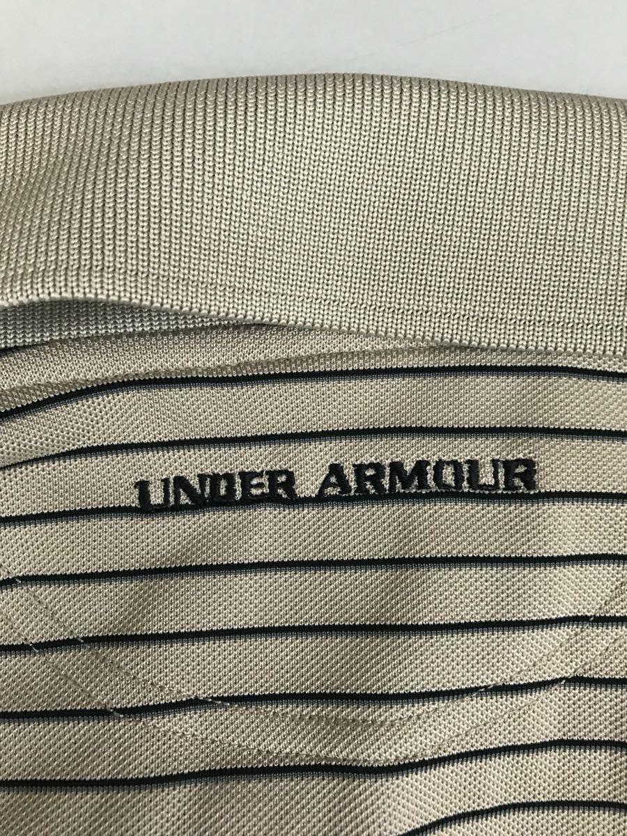 アンダーアーマー UNDER ARMOUR 半袖 ポロシャツ メンズ ボーダー ゴルフウェアー MDサイズ_画像8