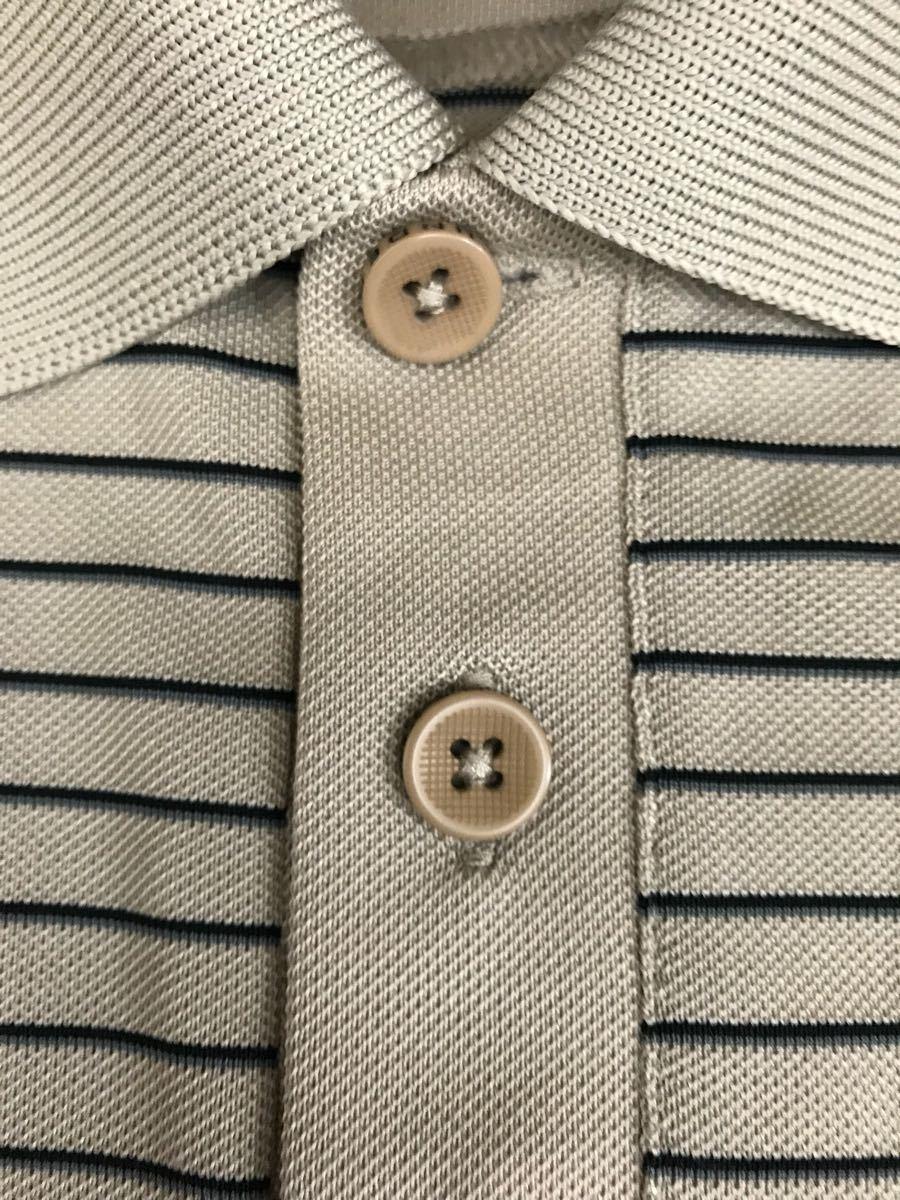 アンダーアーマー UNDER ARMOUR 半袖 ポロシャツ メンズ ボーダー ゴルフウェアー MDサイズ_画像5