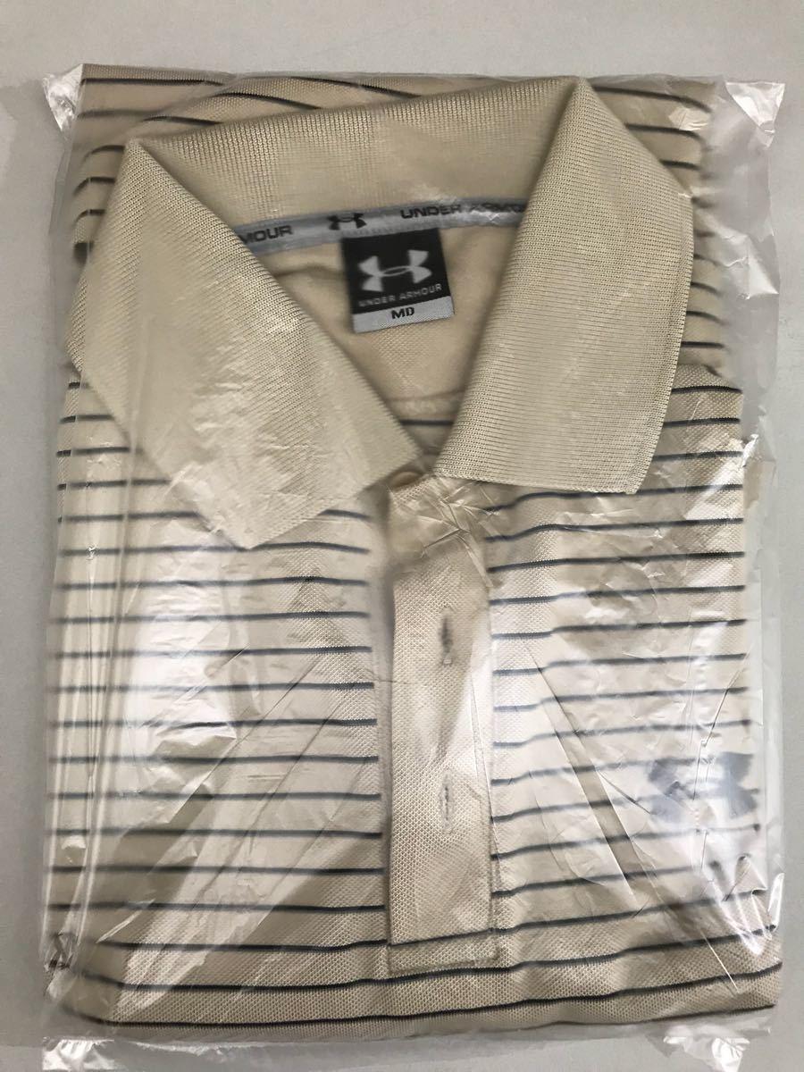 アンダーアーマー UNDER ARMOUR 半袖 ポロシャツ メンズ ボーダー ゴルフウェアー MDサイズ_画像9