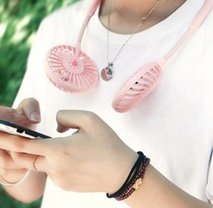首掛け 扇風機 ダブルファン 静音 熱中症 猛暑対策 ハンズフリー ポータブル ネック クーラー ファン 新品未使用品 送料無料 USB 充電_画像9