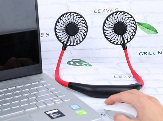 首掛け 扇風機 ダブルファン 静音 熱中症 猛暑対策 ハンズフリー ポータブル ネック クーラー ファン 新品未使用品 送料無料 USB 充電_画像4