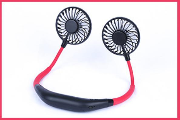 首掛け 扇風機 ダブルファン 静音 熱中症 猛暑対策 ハンズフリー ポータブル ネック クーラー ファン 新品未使用品 送料無料 USB 充電_画像8