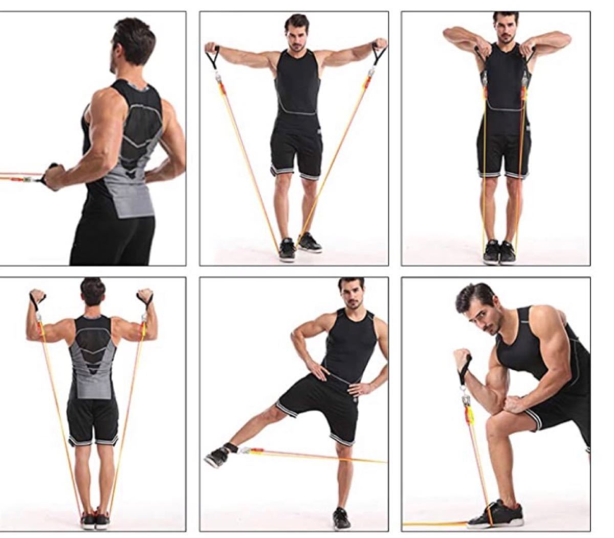 トレーニングチューブ 超強化 チューブトレーニング 腕、背中、脚、胸部腹部臀部用