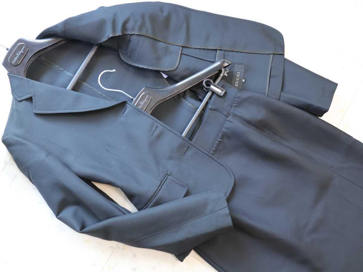 ★グッチ GUCCI★イタリア製★シルク混・通年着用可能★ミディ丈 ジャケット&スカート セットアップ スーツ size 38_画像2