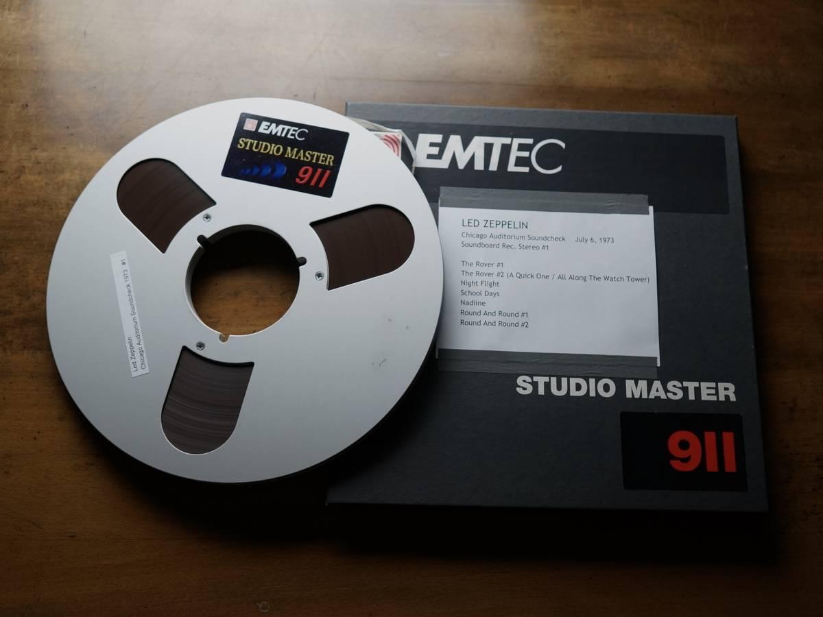 "Used★2TR38cm【EMTEC Studio Master 911】1/4""×2500ft Back-coated Audio Tape★w/Met"