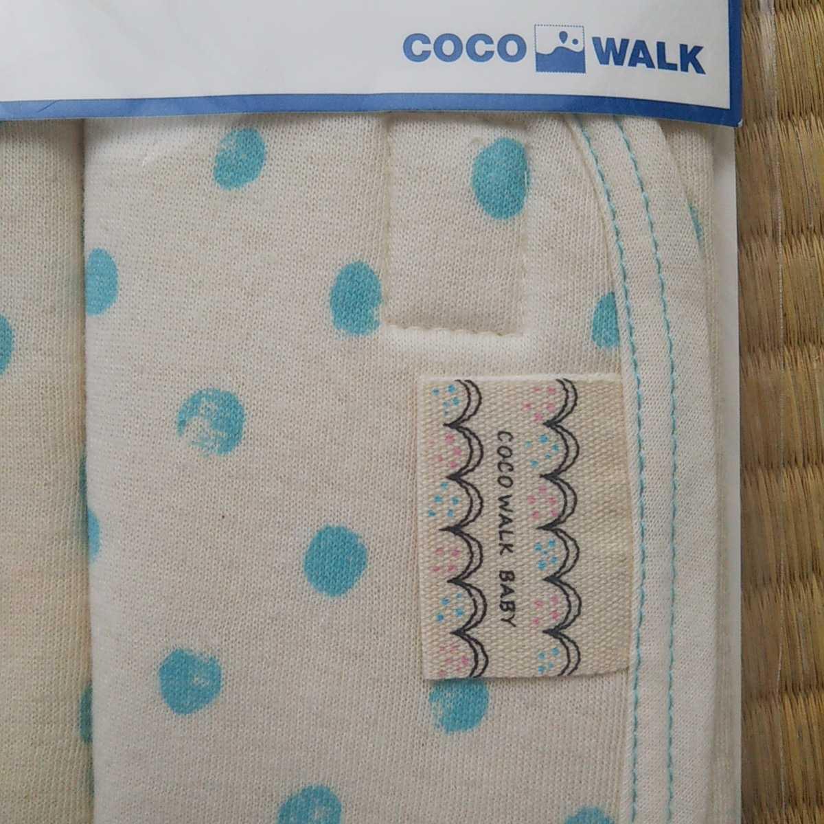 新品未使用未開封☆cocowalk baby ベルトカバー 水色ドット 抱っこひも チャイルドシートカバー ベビーカー肩ベルトに 日本製 ココウォーク_画像4