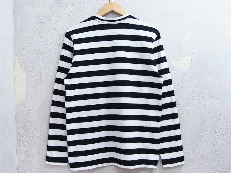 Supreme Medium Stripe L/S Tee ストライプ 長袖 Tシャツ ボーダー ロンT カットソー 黒 ブラック S シュプリーム_画像2