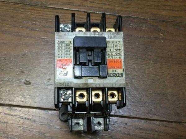 電子部品、パーツなど・・/   FUJI 富士電機 電磁接触器  SC-0J  BO45B_画像1