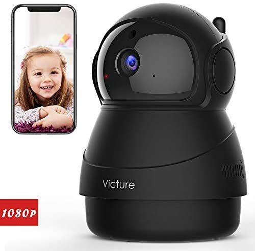 Victure 1080P ネットワークカメラ FHD WiFi 屋内ワイヤレス防犯カメラ 動体検知 暗視撮影 家庭監視ディスプレイ 双方向音声 ベビー/ペッ _画像1