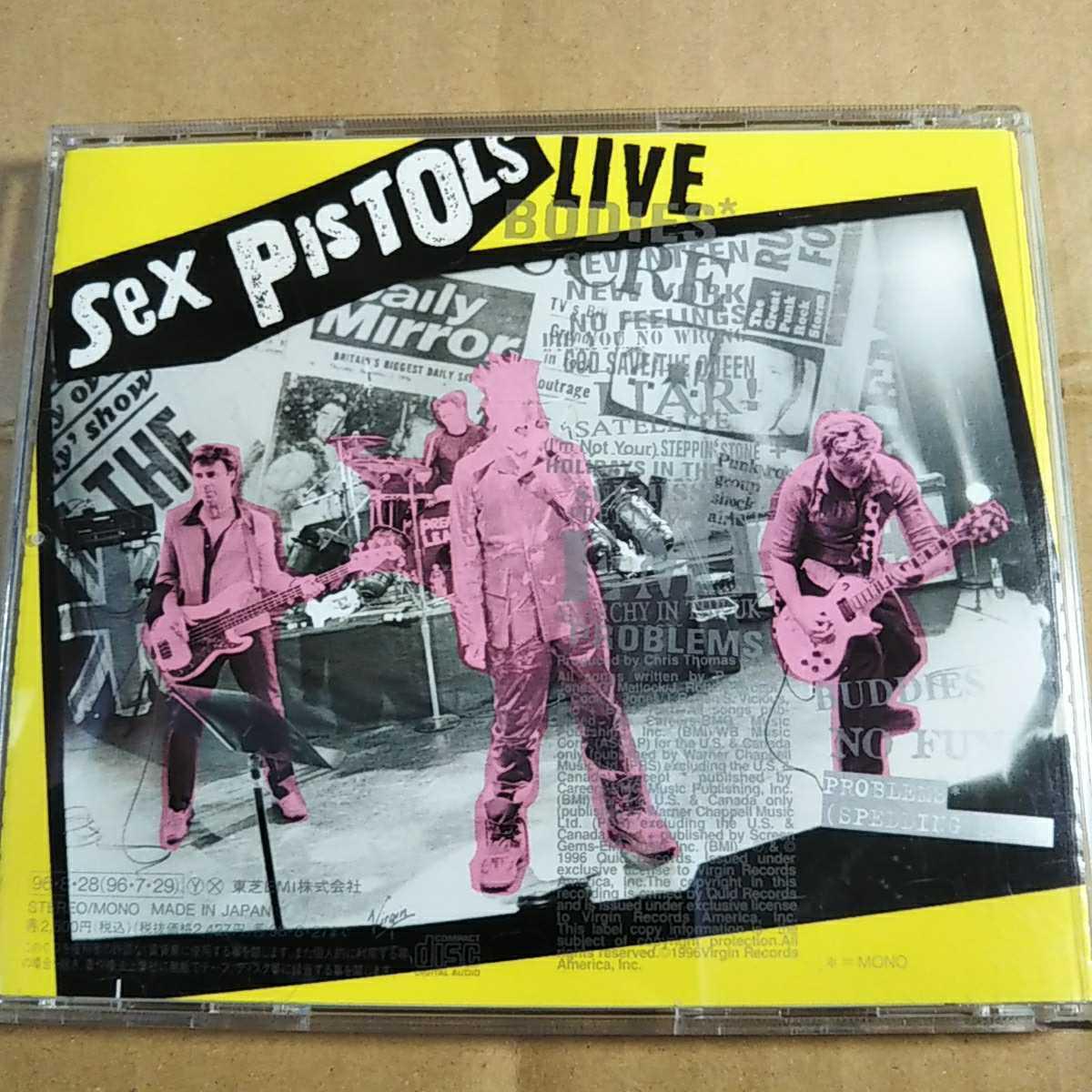 中古CD SEX PISTOLS / セックス・ピストルズ『FILTHY LUCRE LIVE』国内盤/帯有り VJCP-25247【1362】