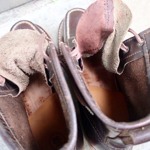 [ブヒシューズ] カスタム/24.5cm/こげ茶/革靴/ブーツ/モックトゥ/ハンドソーンウェルト/ビンテージブーツ/ビンテージ靴/ノルベジェーゼ_画像10