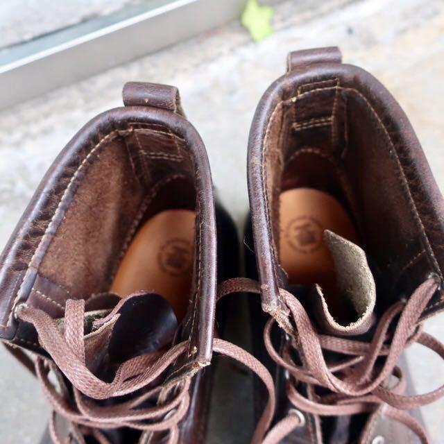 [ブヒシューズ] カスタム/24.5cm/こげ茶/革靴/ブーツ/モックトゥ/ハンドソーンウェルト/ビンテージブーツ/ビンテージ靴/ノルベジェーゼ_画像8