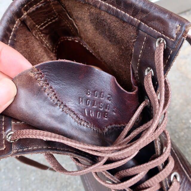[ブヒシューズ] カスタム/24.5cm/こげ茶/革靴/ブーツ/モックトゥ/ハンドソーンウェルト/ビンテージブーツ/ビンテージ靴/ノルベジェーゼ_画像9