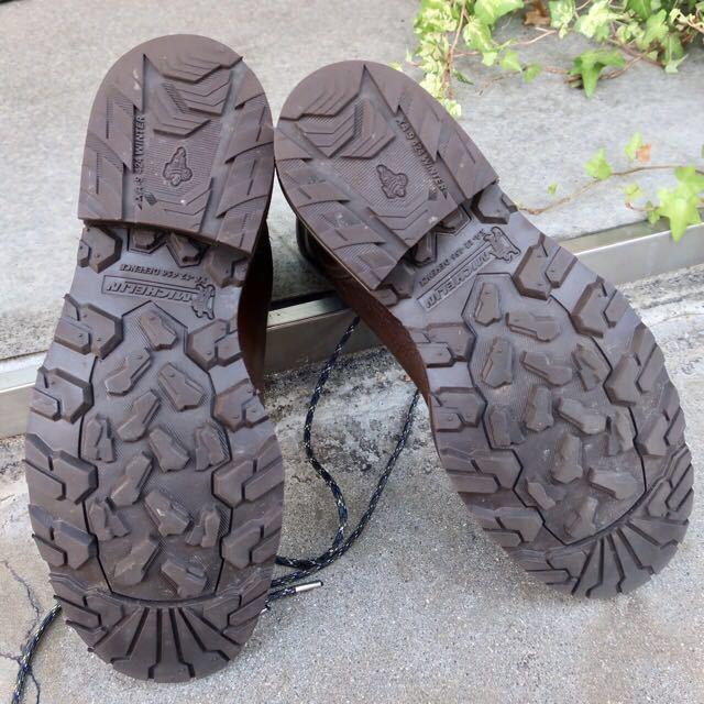[ブヒシューズ] カスタム/DIESEL/ディーゼル/約25-25.5cm/カーキ/革靴/ワークブーツ/ビンテージ/カスタムブーツ/ノルベジェーゼ_画像9