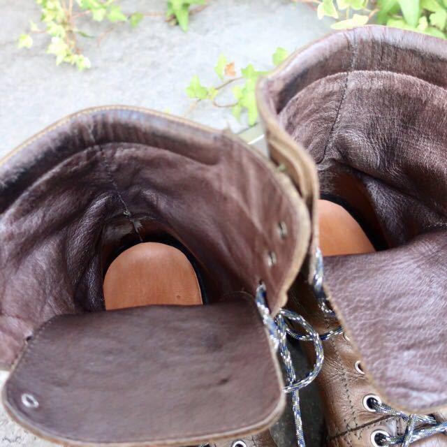 [ブヒシューズ] カスタム/DIESEL/ディーゼル/約25-25.5cm/カーキ/革靴/ワークブーツ/ビンテージ/カスタムブーツ/ノルベジェーゼ_画像7