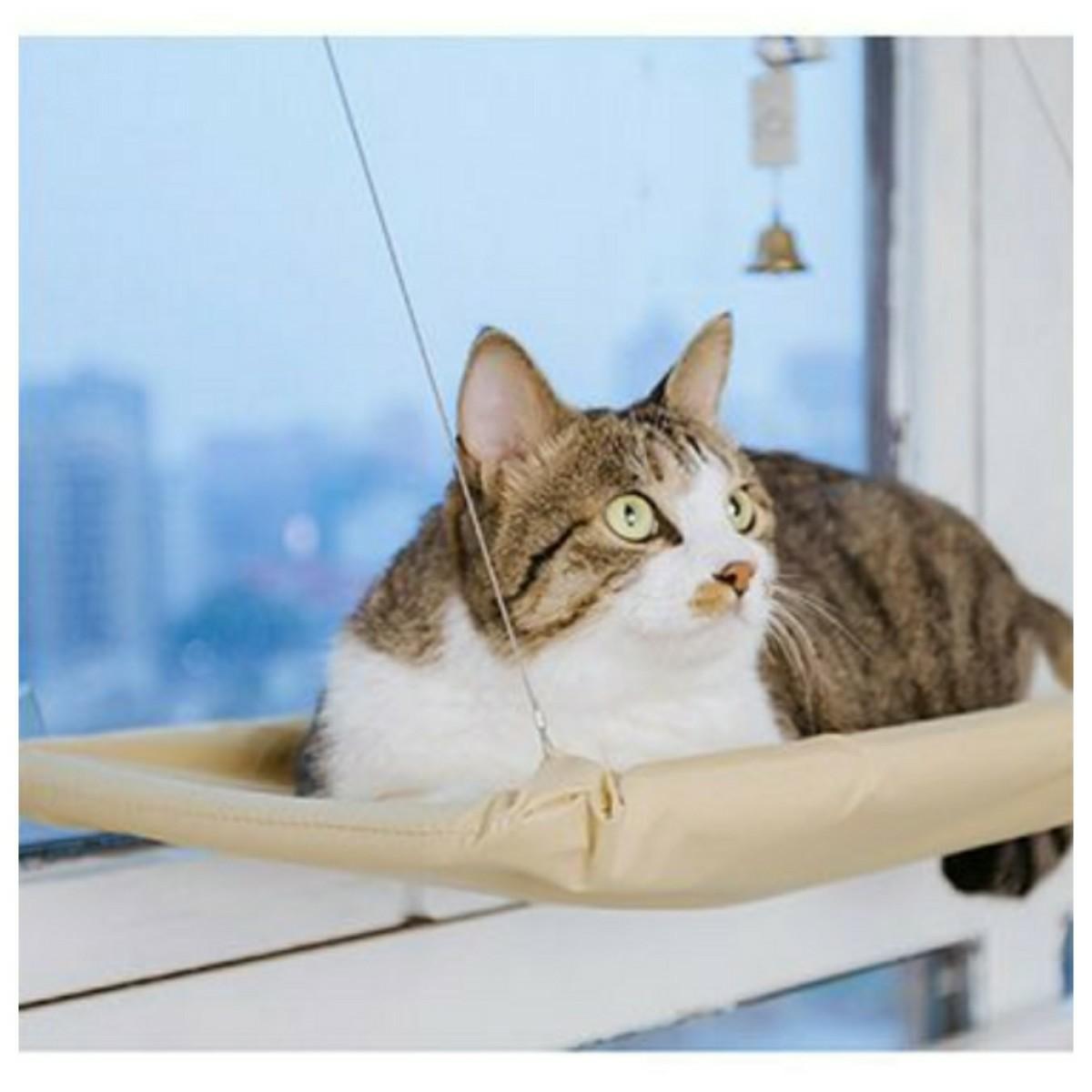 猫 ネコ ハンモック 窓用 ベッド 吸盤 日向ぼっこ スペース活用