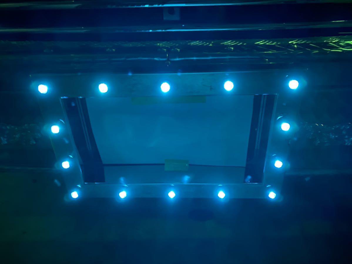 パイロット ナンバー枠 ステンレス 中型 LED グリーンレンズ新品 デコトラ レトロ キャンター エルフ_画像2