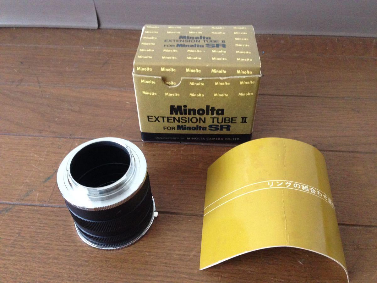 ミノルタ エクステンションチューブ2 for SR Minolta EXTENSION TUBE Ⅱ FOR Minolta SR カメラ 箱あり_画像1