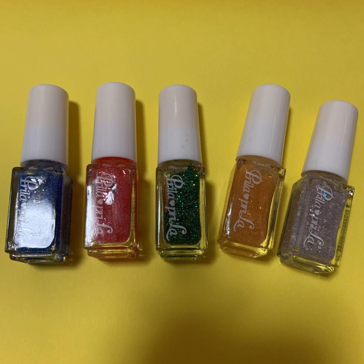 ネイルカラーマニキュア5色