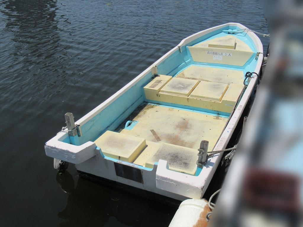 「和船 船体のみ 18ft (5.4m) S52年進水 古いですがまだまだ 愛媛県 格安 小型船外機用和船 ボート」の画像1