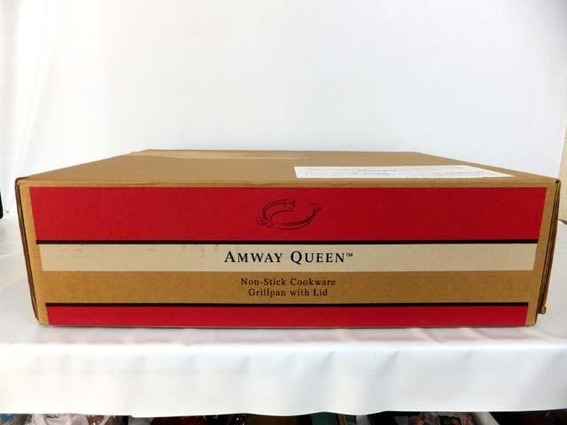 7810 未使用 Amway QUEEN アムウェイクィーン ノンスティック グリルパン フタ付き 118421J1 調理器具