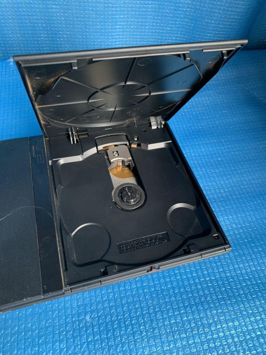 ソニー SONY PS2・PlayStation2・プレステ2 本体 /メモリーカード 1 枚 SCPH-70000 薄型 ブラック 中古 通電動作未確認 ジャンク品_画像8