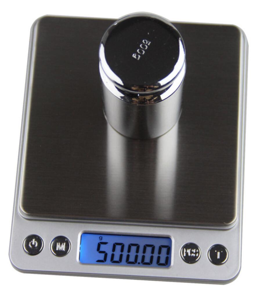 デジタルスケール 電子はかり キッチン計量器(500g/0.01g) 自動校正機能 風袋引き機能 精度(0.01g) 調理
