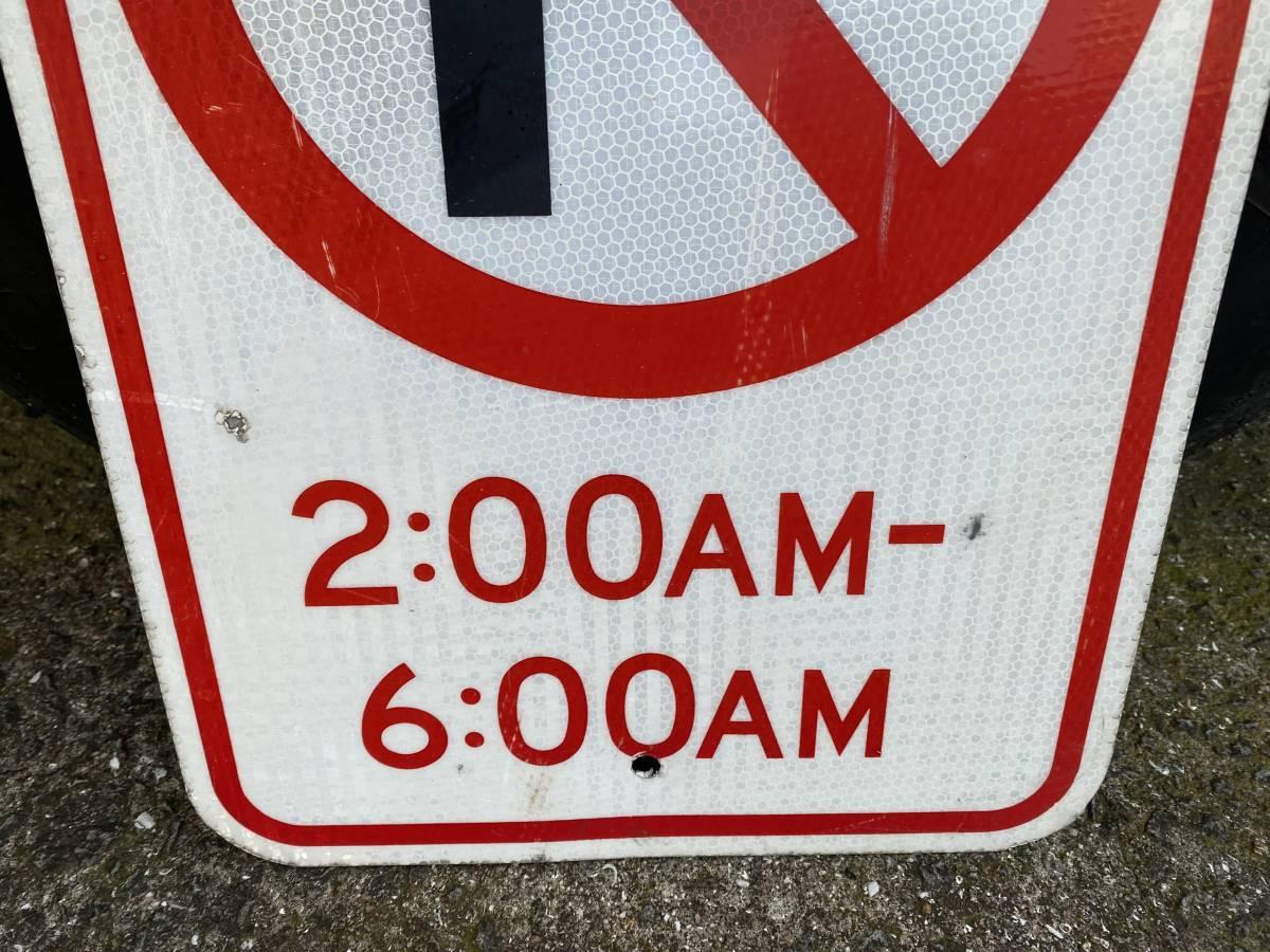 ★本物★アメリカ 道路標識 駐車禁止 ②★HC-13★ノーパーキング ロードサイン ガレージ 世田谷ベース アメリカン 看板 ビンテージ USA_画像4