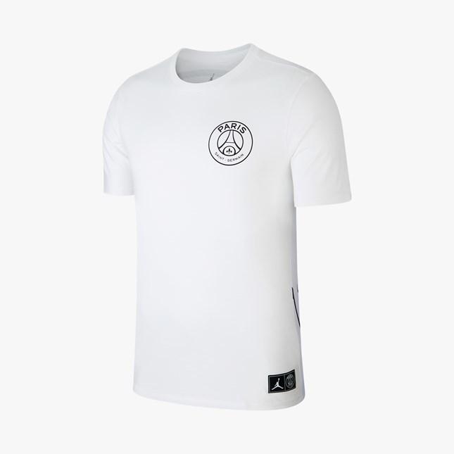 ★新品 S NIKE AIR JORDAN×PSG WHITE ロゴ Tシャツ ナイキ パリサンジェルマン ジョーダン PARIS SAINT GERMAIN LOGO T-SHIRT BCFC