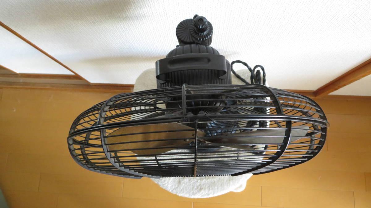 【骨董品】アンテイーク扇風機(鉄製扇風機)  メトロな扇風機_真上から