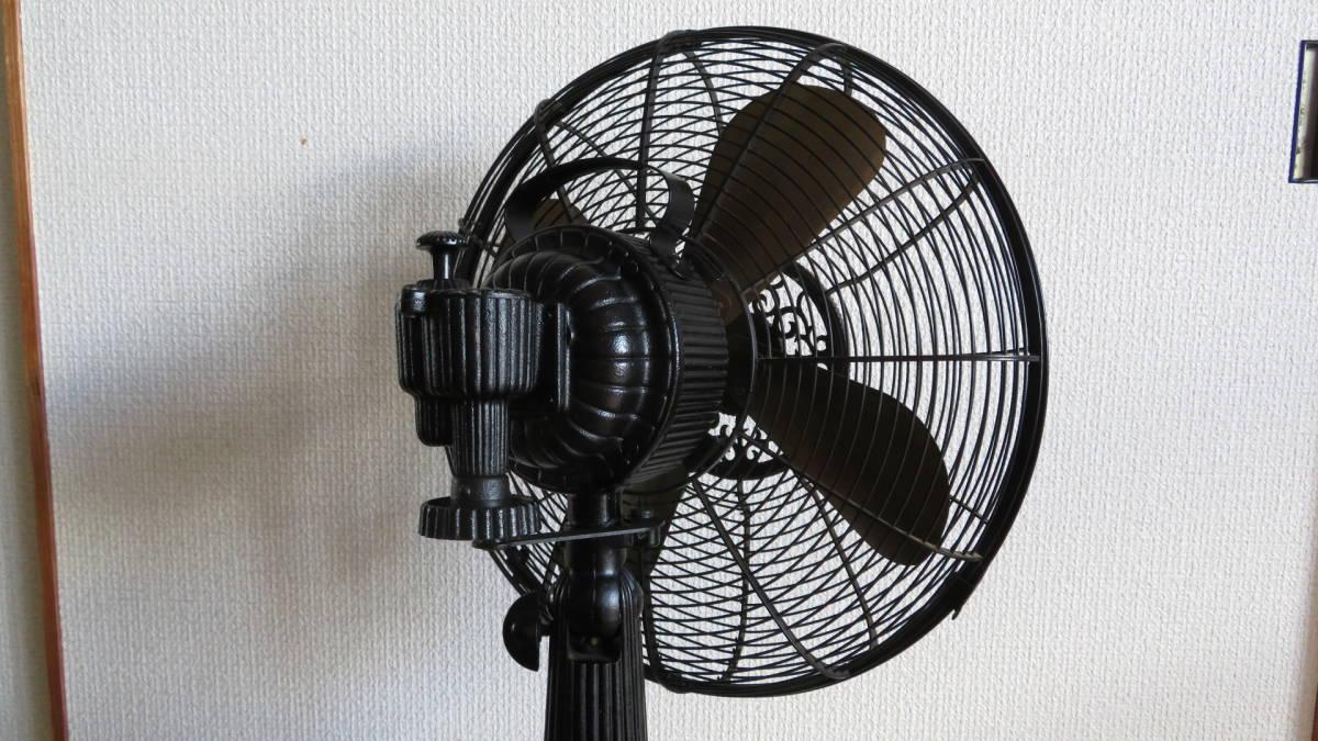 【骨董品】アンテイーク扇風機(鉄製扇風機)  メトロな扇風機_首振り箇所(斜めから)