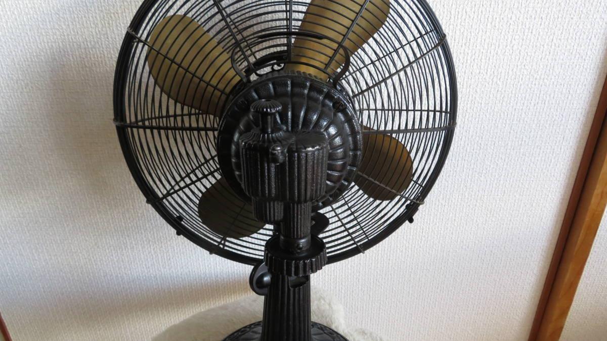 【骨董品】アンテイーク扇風機(鉄製扇風機)  メトロな扇風機_首振り箇所(後ろから)