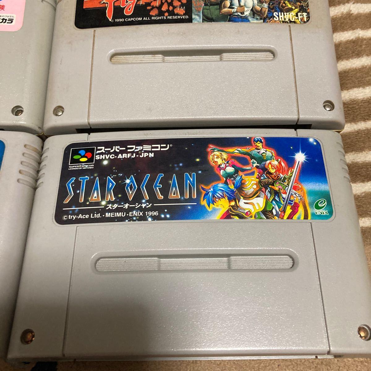 送料無料 SFC スーパーファミコン 6本セット ロックマンX スターオーシャン ミラクルガールズ 新桃太郎伝説 ファイナルファイト 超魔界村等