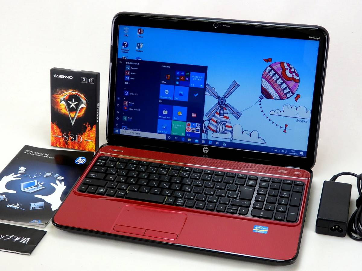 【ハイスぺ】Pavilion g6-2019TU☆新品SSD1TB/Core i7-3612QM/8GBメモリ☆15.6型ワイド/無線LAN/USB3.0/Sマルチ/Webカメラ/MS Office2019_画像2