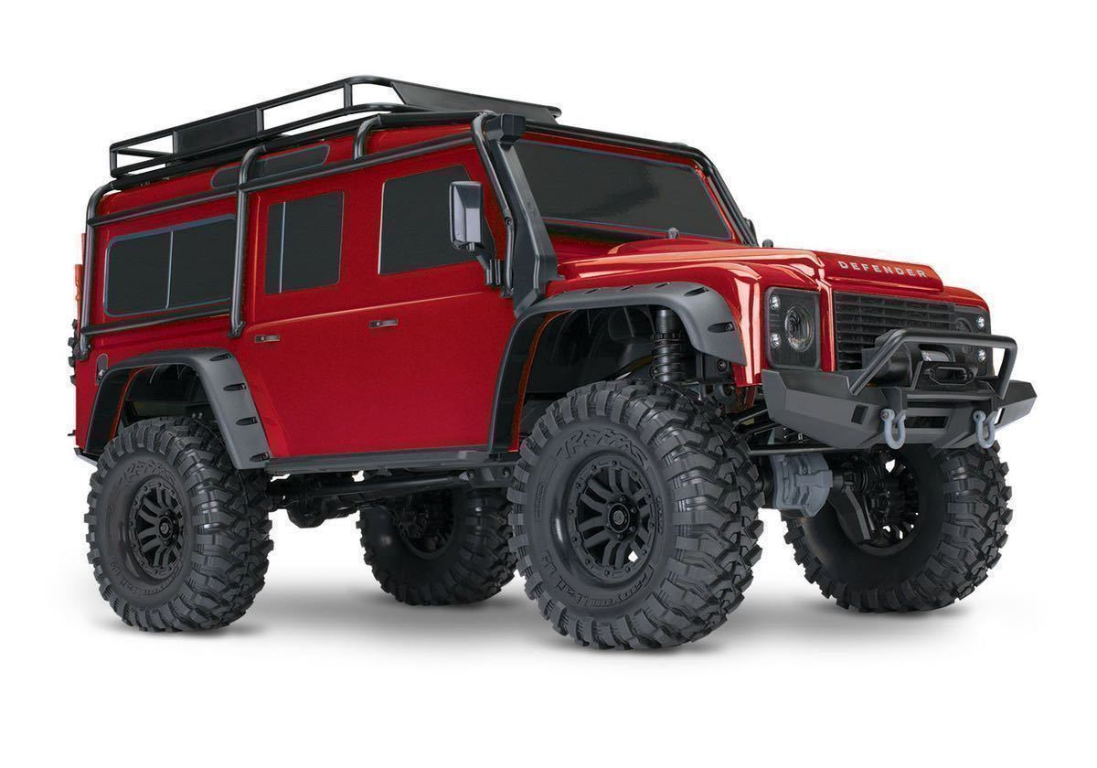 未開封 Traxxas TRX-4 ディフェンダー おまけD110 RTR RC レッド トラクサス 1/10 スケールクローラー 4WD 2速ギア アキシャル scx10 cc-02