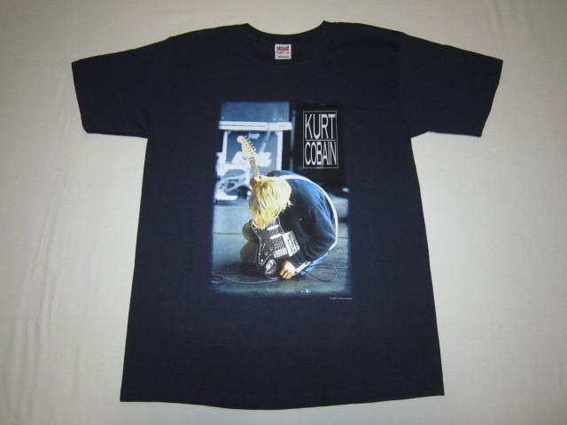 デッドストック カートコバーン 【Kurt Cobain】 トリビュートTシャツ ネイビー 2000年コピーライト ニルバーナ 【nirvana】_画像1