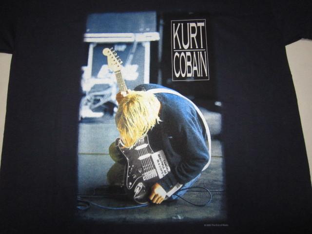 デッドストック カートコバーン 【Kurt Cobain】 トリビュートTシャツ ネイビー 2000年コピーライト ニルバーナ 【nirvana】_画像3