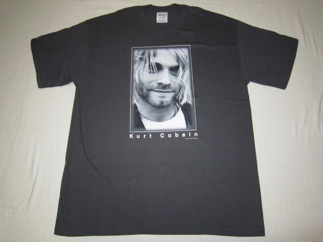 デッドストック カートコバーン 【Kurt Cobain】 フォトプリントTシャツ コピーライト2003 チャコールグレー ニルバーナ 【nirvana】_画像1