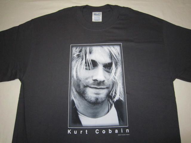 デッドストック カートコバーン 【Kurt Cobain】 フォトプリントTシャツ コピーライト2003 チャコールグレー ニルバーナ 【nirvana】_画像3