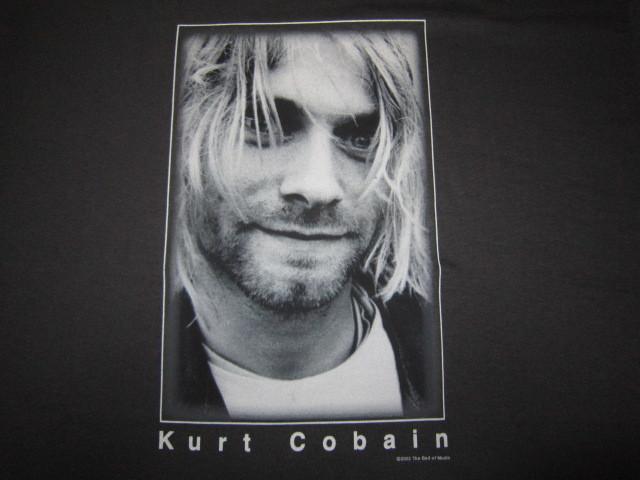 デッドストック カートコバーン 【Kurt Cobain】 フォトプリントTシャツ コピーライト2003 チャコールグレー ニルバーナ 【nirvana】_画像7