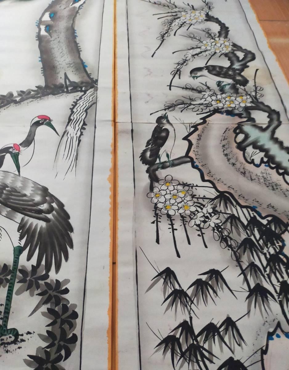 清時代 水墨畫【山水図 】手描き 絵を掛ける 賞品 文房道具_画像6