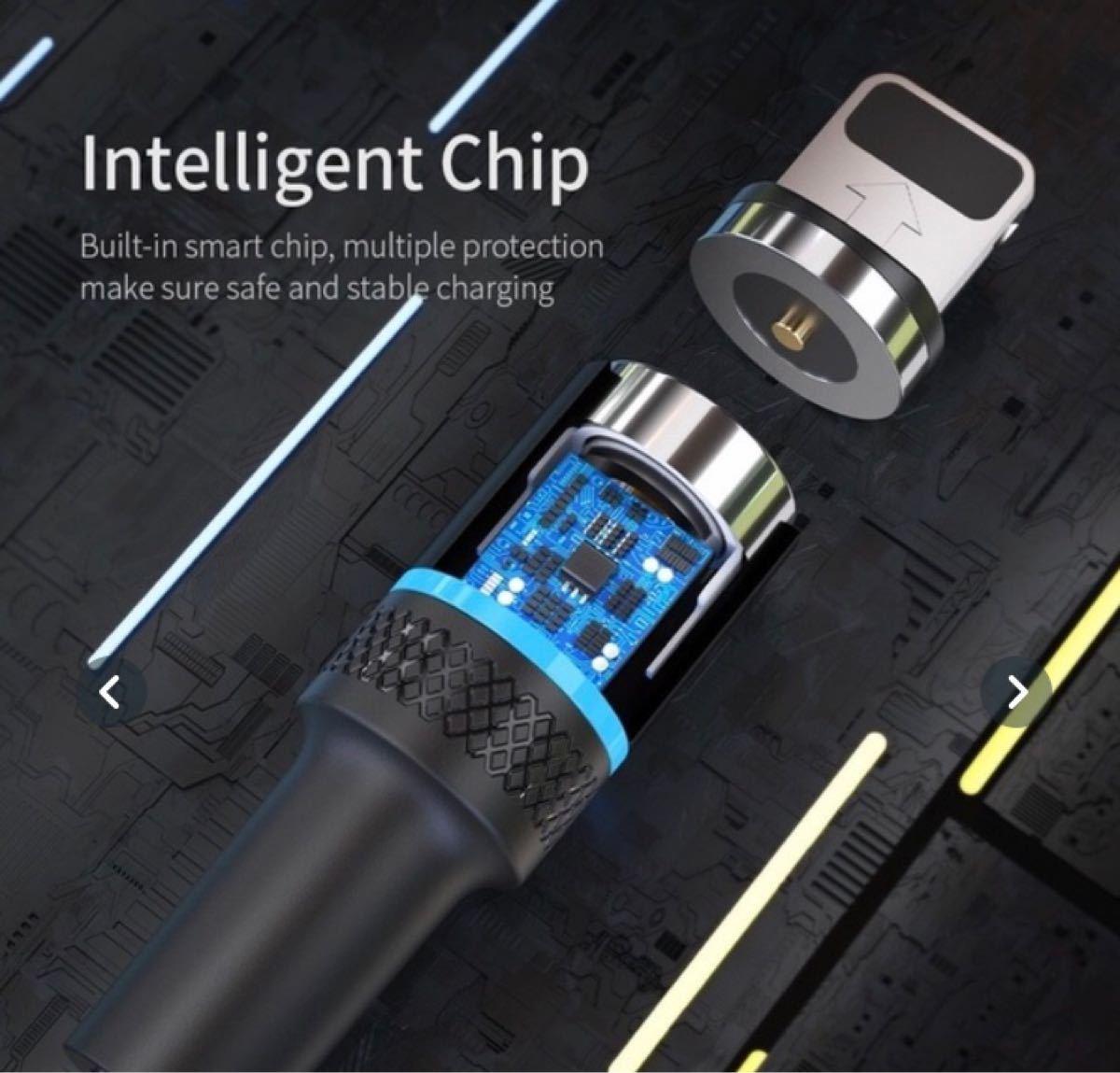 USB ケーブル 1M マグネット式 急速充電 レッド プラグ1種