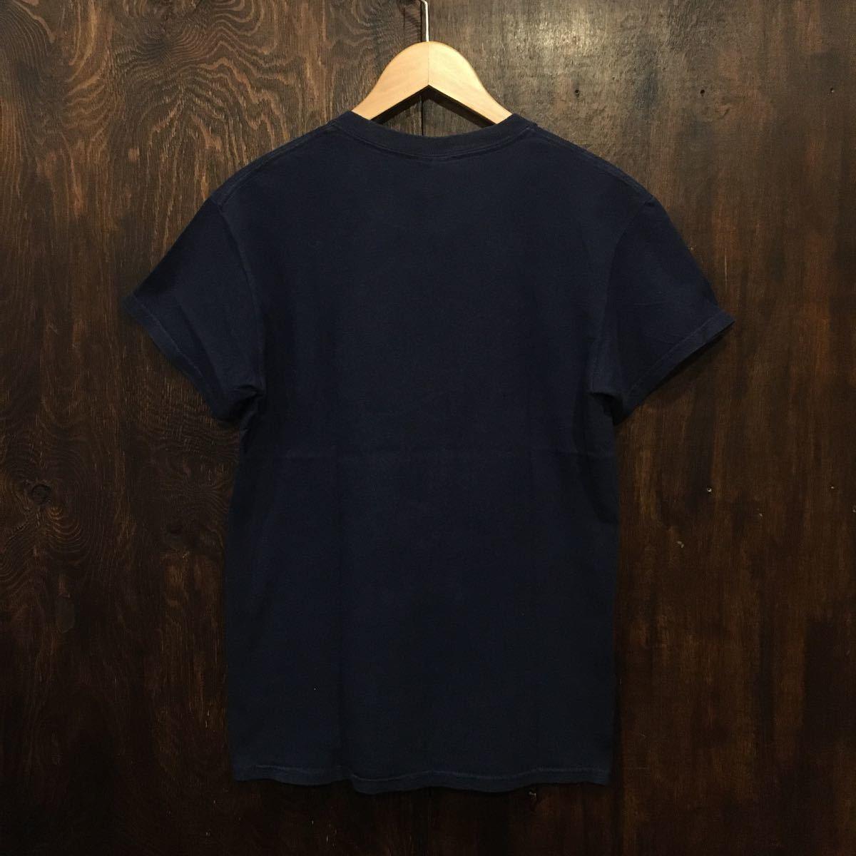 アメリカ古着 半袖 プリントTシャツ ネイビー YOUNGLIFE Sサイズ
