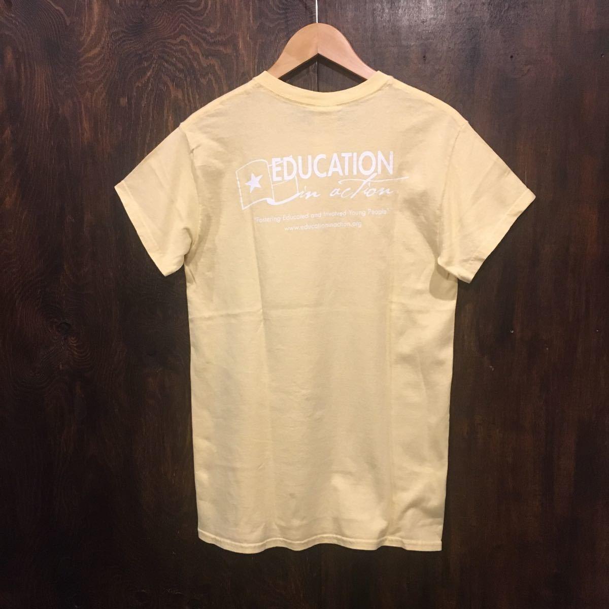 アメリカ古着 US古着 半袖 プリントTシャツ イエロー Sサイズ 黄色