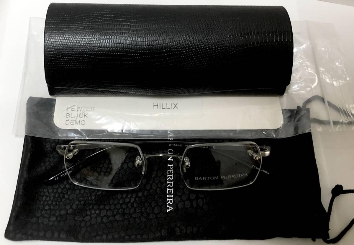 定価 84000円 バートンペレイラ ヘリックス 正規日本製 六角形レンズ 黒・シルバー メガネ 純正ケース付き Barton Perreira 米国ブランド_画像9