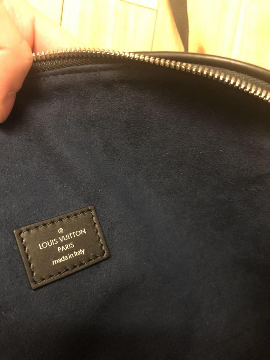 激レア Louis Vuitton ルイヴィトン エピ LV サークルロゴ バムバッグ ボディバッグ_画像3